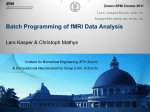 zurich spm course 2011 batch programming of fmri data analysis