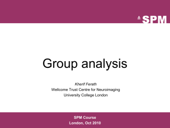 04_Group_Analysis.ppt - Wellcome Trust Centre for Neuroimaging