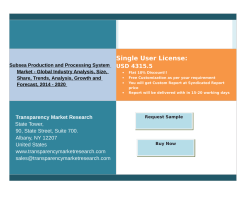 Subsea Production and Processing System Market Trends 2014 - 2020