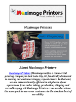 Maximage Printers: Salt Lake City Printers
