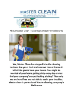Master Clean : Vacate Cleaning company in melbourne