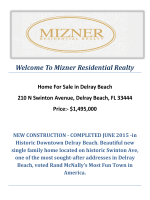 210 N Swinton Avenue, Delray Beach, FL 33444 : Delray Beach Homes for Sale by Mizner Residential Realty