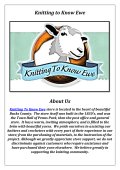 Knitting To Know Ewe: Yarn Store Newtown PA