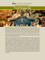 Travel Packages Italy