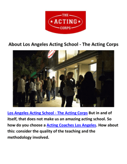 Los Angeles Acting School-The Acting Corps : Acting Coaches in Los Angeles