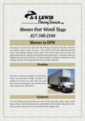 Movers in DFW