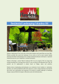 Residential Landscaping Columbus OH