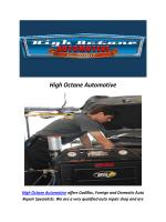 High Octane Automotive : Auto Repair Shop Northridge