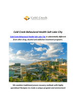 Cold Creek Behavioral Health : Residential Treatment Centers Salt Lake City