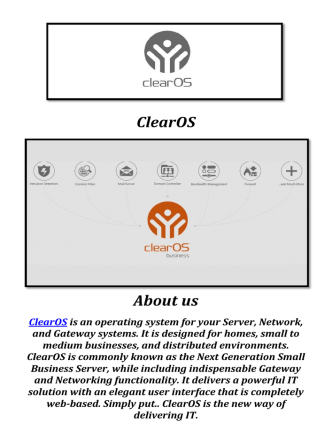 ClearOS: Best Intrusion Detection System