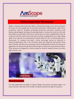 Stereo Inspection Microscope