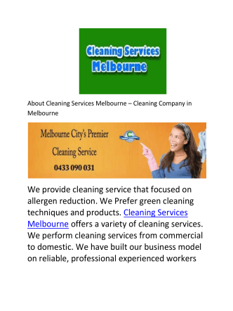 Cleaning Services Melbourne - Professional Vacate Cleaners