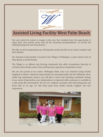 Assisted living facility West Palm Beach