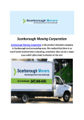Scarborough Moving Corporation In Toronto