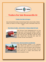 Trailers For Sale Brownsville Or
