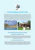 Fredericksburg Land For Sale