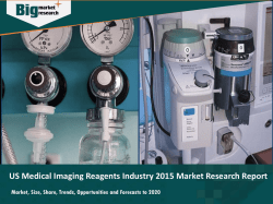 US Medical Imaging Reagents Industry 2015 Market Research Report