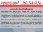 Automotive Detailing Supplies