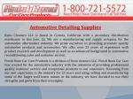 Automotive Detailing Supplies