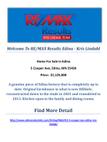 5 Cooper Ave, Edina, MN 55436 : Sell My Edina Home by RE/MAX Results Edina - Kris Lindahl