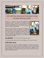 Seventh Day Adventist Assisted Living Facility Baltimore Md