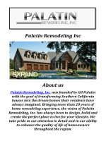 Palatin Remodeling Inc: Home Remodeling Los Angeles
