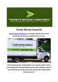 Toronto Moving Companies