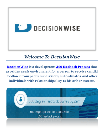360 feedback Process By DecisionWise
