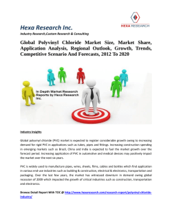 Global Polyvinyl Chloride Market Size, Market Share, Application Analysis, Regional Outlook, Growth, Trends, Competitive Scenario And Forecasts, 2012 To 2020