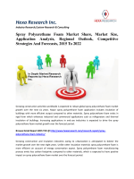 Spray Polyurethane Foam Market Share, Market Size, Application Analysis, Regional Outlook, Competitive Strategies And Forecasts, 2015 To 2022