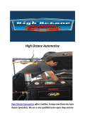 High Octane Automotive : Car maintenance West Hills