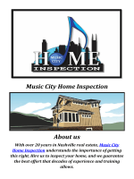 Music City Home Inspectors Nashville TN