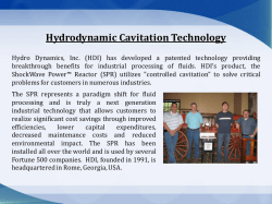 Hydrodynamic Cavitation Technology