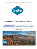 Home Security Systems Provo by Safe Home Control