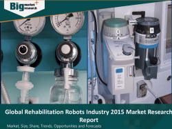 Global Rehabilitation Robots Industry 2015 Deep Market Research Report