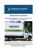 Burnaby Movers Corporation