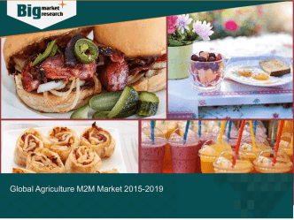 Agriculture M2M Market Size and Growth Rate Worldwide 2015-2019