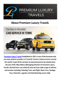 Premium Luxury Travels Cabs Amritsar