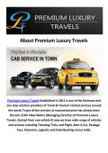 Premium Luxury Travels Cabs Amritsar