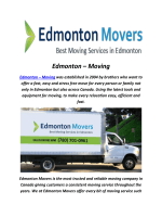 Edmonton Moving Company