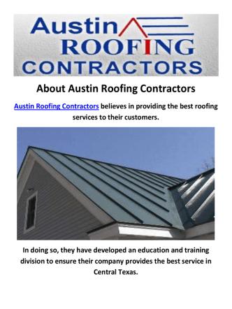 Austin Roofing Contractors :  Metal Roofing in Austin