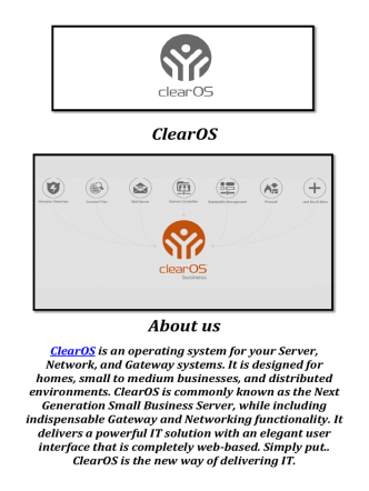 ClearOS: Intrusion Prevention System