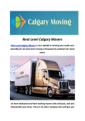Next Level Calgary Movers : Calgary Moving Company