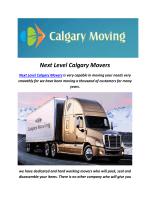 Next Level Calgary Movers : Calgary Moving Company