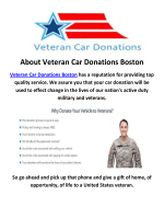 Veteran Car Donations in Boston