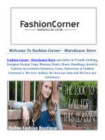 Warehouse Fashion Stores by Fashion Corner