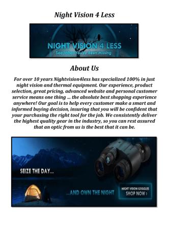 Buy Night Vision Binoculars @ Night Vision 4 Less