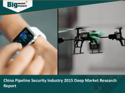 China Pipeline Security Industry 2015 Deep Market Research Report