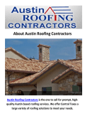 Austin Roofing Contractors - Stone Coated Metal Roof in Austin