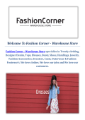 Online Fashion Boutiques by Fashion Corner - Warehouse Store